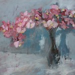 Pink Orchids | 36x36 | Oil Encaustic | Available