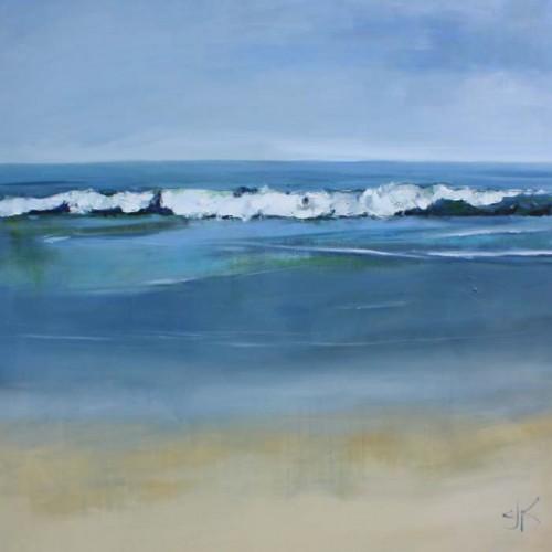 Aqua Surf | 48x 48 | Oil | CJK