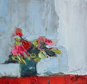 "Red Cloth | 5 1/2"" x 5 3/4"" 