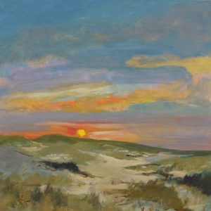 Cape Cod Sunrise over the Dunes | 36x36 | Oil on Canvas | CJK