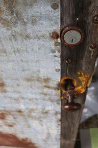 C-Scape Front Door. Artist in residence CJK