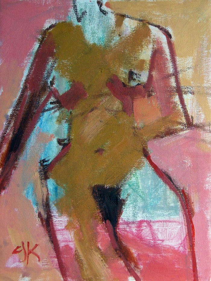 Female Form | 9 x 12 | Oil Sketch