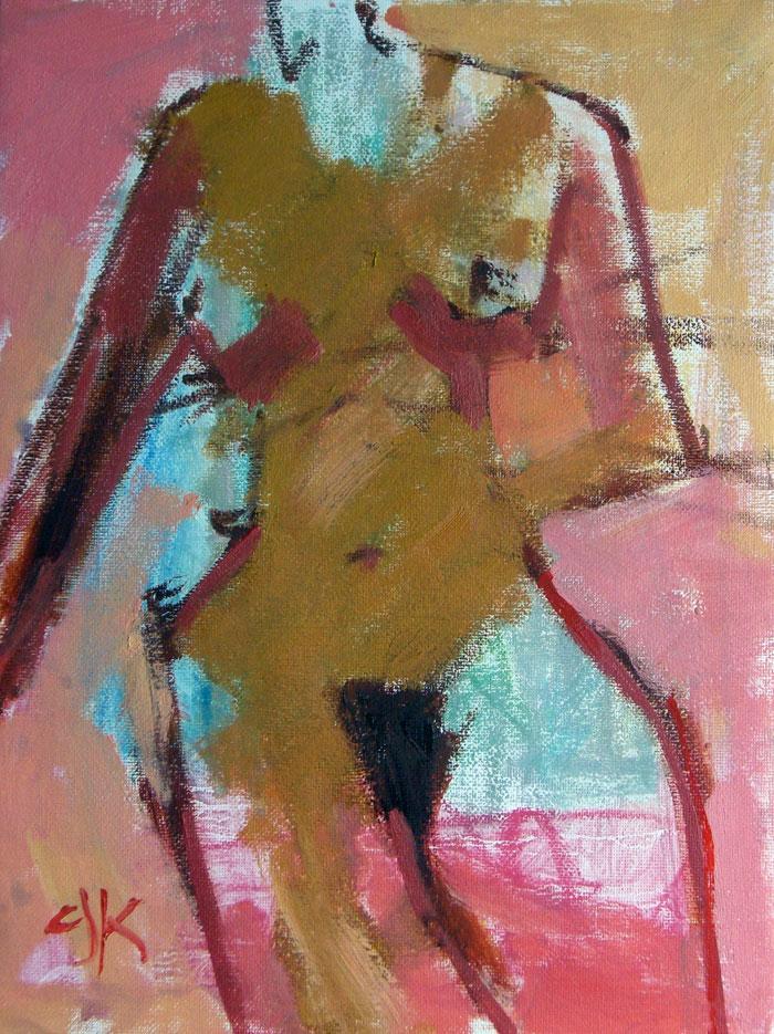 Female Form | 9 x 12 | Oil Sketch