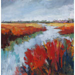 painting, landscape, marsh,