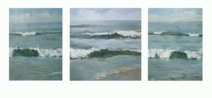 """Oceanscape Triptych 