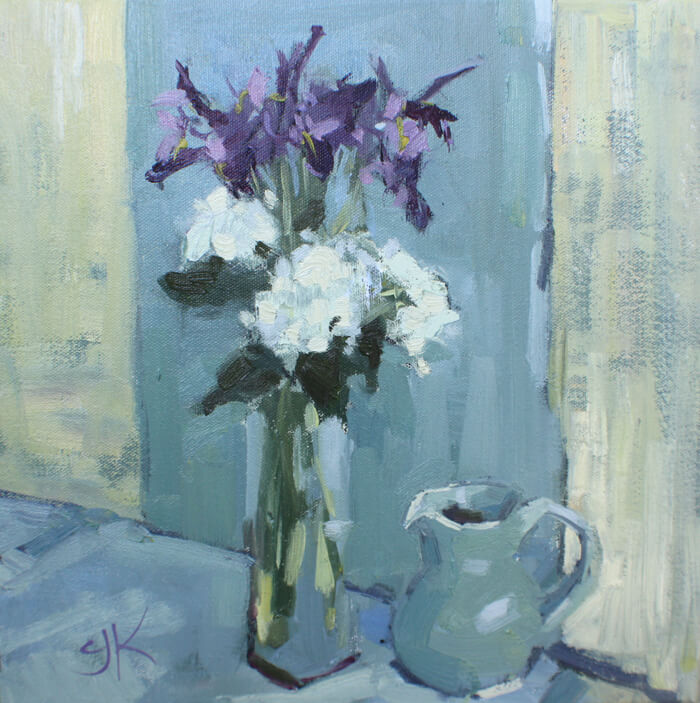 still life, painting, flower,