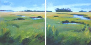 St Augustine Marshlands 1 & 2 | 30 x 60 | Oil Encaustic