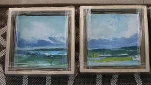 "Abstract ocean | 8""x8"" each 