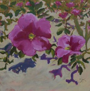 Thinking of you my sweet | Salt Roses | 30x30 | Oil on Board | CJK