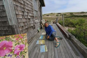 C-Scape Dune Shack, Cape Cod National Seashore. MA Aritst-in-residence Claire J. Kendrick.