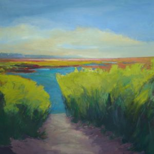 Vibrant Marsh | 48x48 | Oil and Wax | CJK